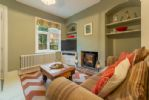 Ground floor: Living area with wood burning stove