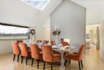 Ground floor: Stunning double sided fireplace leading to dining room