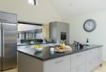 Ground floor: Open-plan modern and fully equipped kitchen