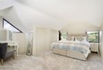 First floor: Spacious and light bedroom with super-king bed