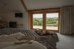 First floor: Spacious master bedroom with amazing countryside views
