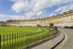An example of splendid Georgian architecture with Grade I listed buildings at the Royal Crescent
