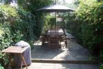 Dining area within the courtyard garden