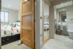 Ground floor: Hall view to bedrooms and bathroom