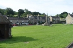 Green Bank, overlooking the village green, in West Burton, Wensleydale in the Yorkshire Dales