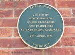 Coastguard Lookout plaque of royal visit