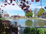 Lovely village green and pond in Goudhurst, Kent