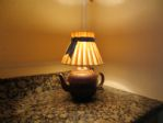 TEAPOT COTTAGE, UPCYCLED LAMP