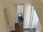The bathroom is easily accessible from both of the 1st floor bedrooms.