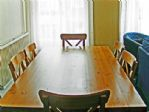 The dining table is a good size and will accommodate all guests.