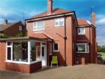 The Beach House is a detached property in a quiet location.