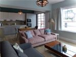 The beautifully styled and furnished living room...