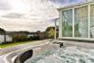 Stunning outdoor hot tub