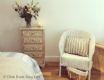 Aberdour Coastal Holiday Apartment - rustic chic bedroom