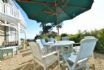 Enjoy dining outside in the sunshine