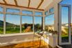 See the sea form the conservatory and watch the garden activity,.