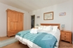 Double bedroom with quality furniture and sea views