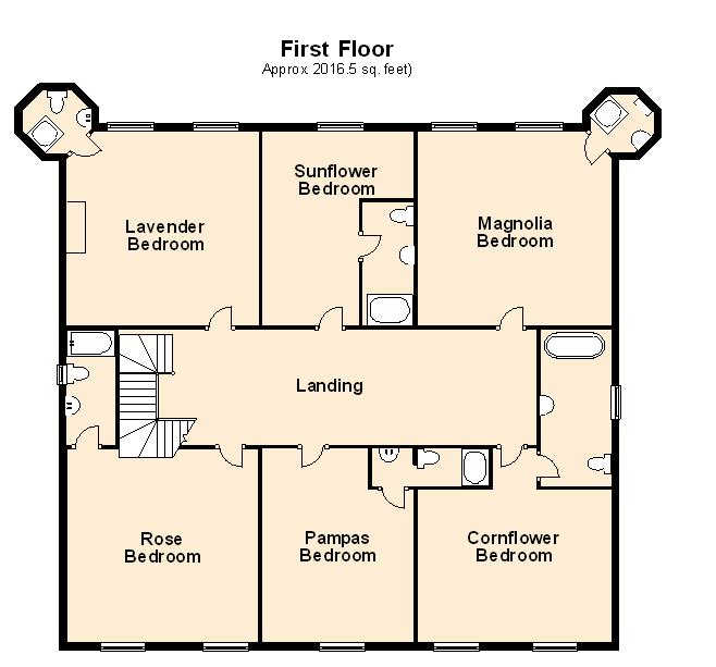 First Floor Plan for Immaculate Chateau