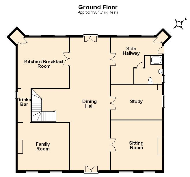 Ground Floor Plan for Immaculate Chateau