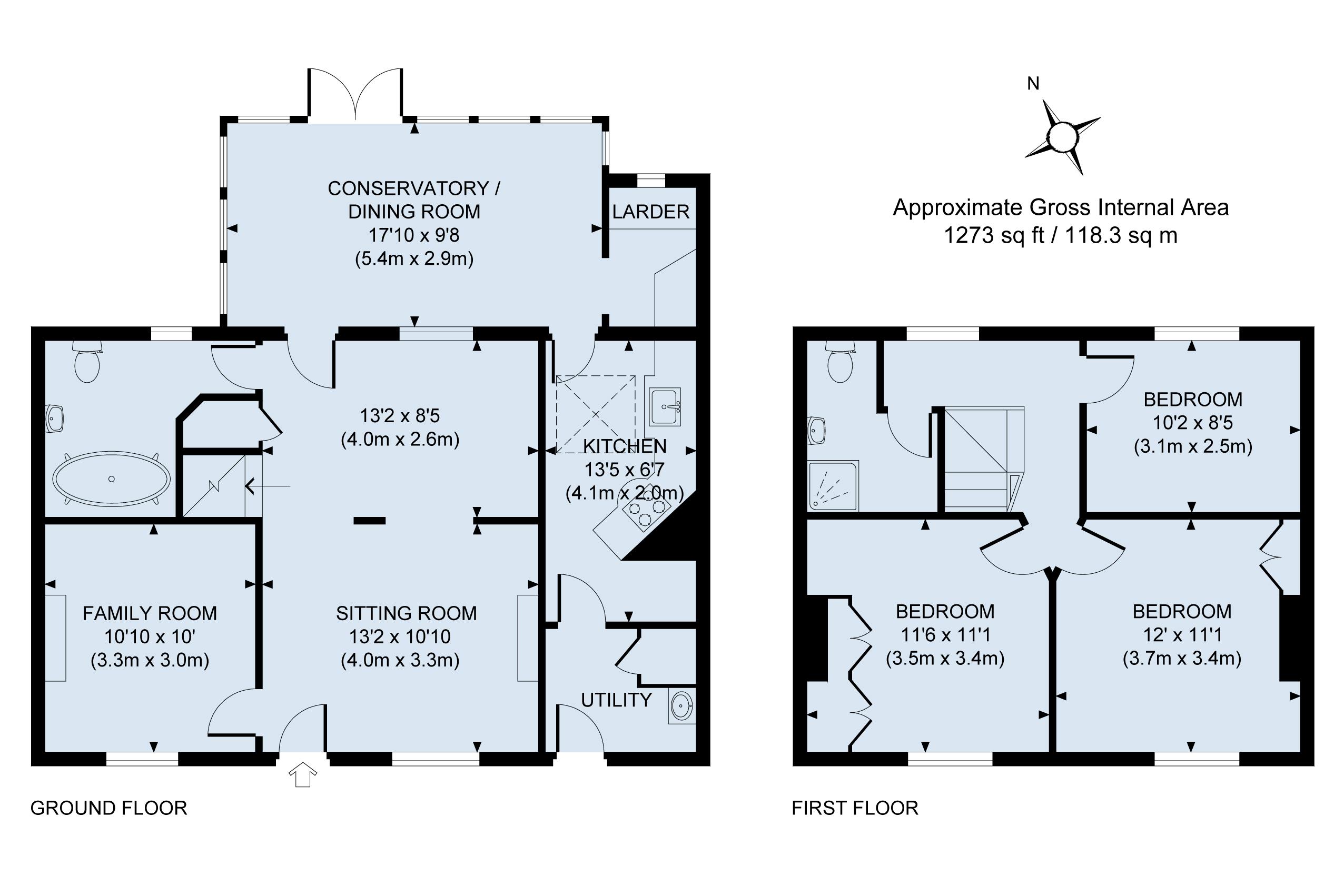 Ivy Cottage floor plan