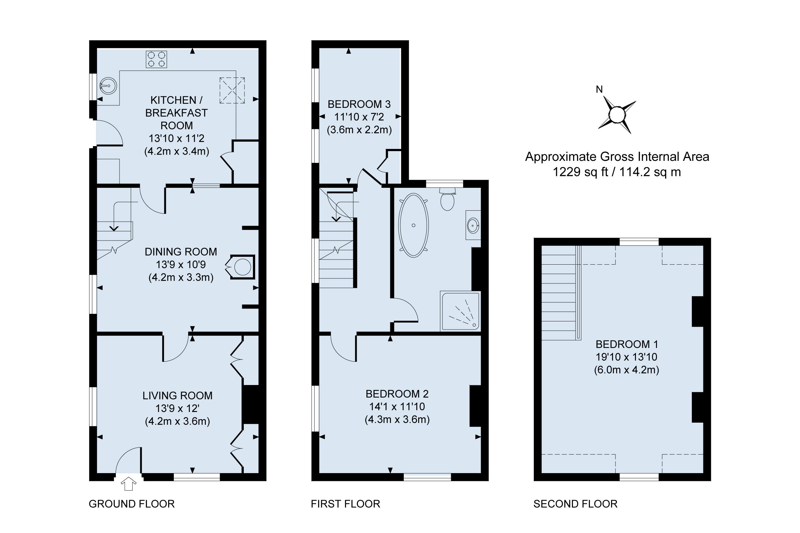 Floor plan Jasmine Cottage