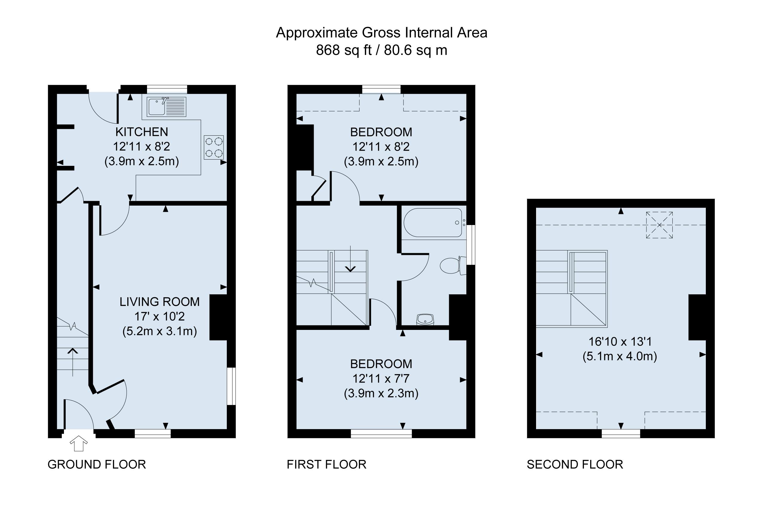 floor plan -Gran's Cottage