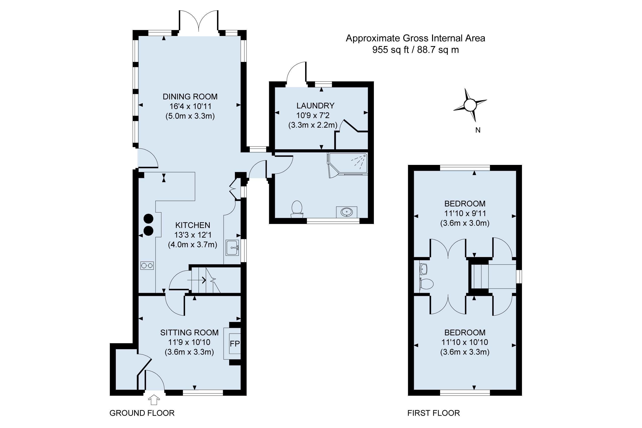 Floor Plan Rose Cottage -Lickford