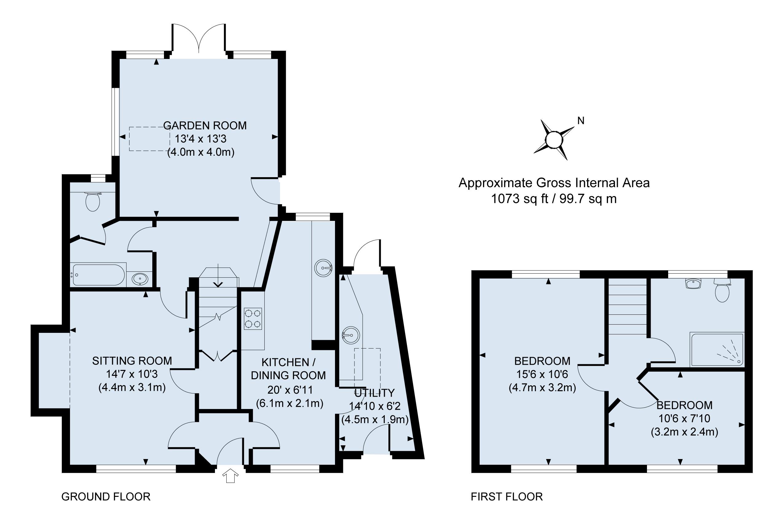 Floor plan - Lavender cottage
