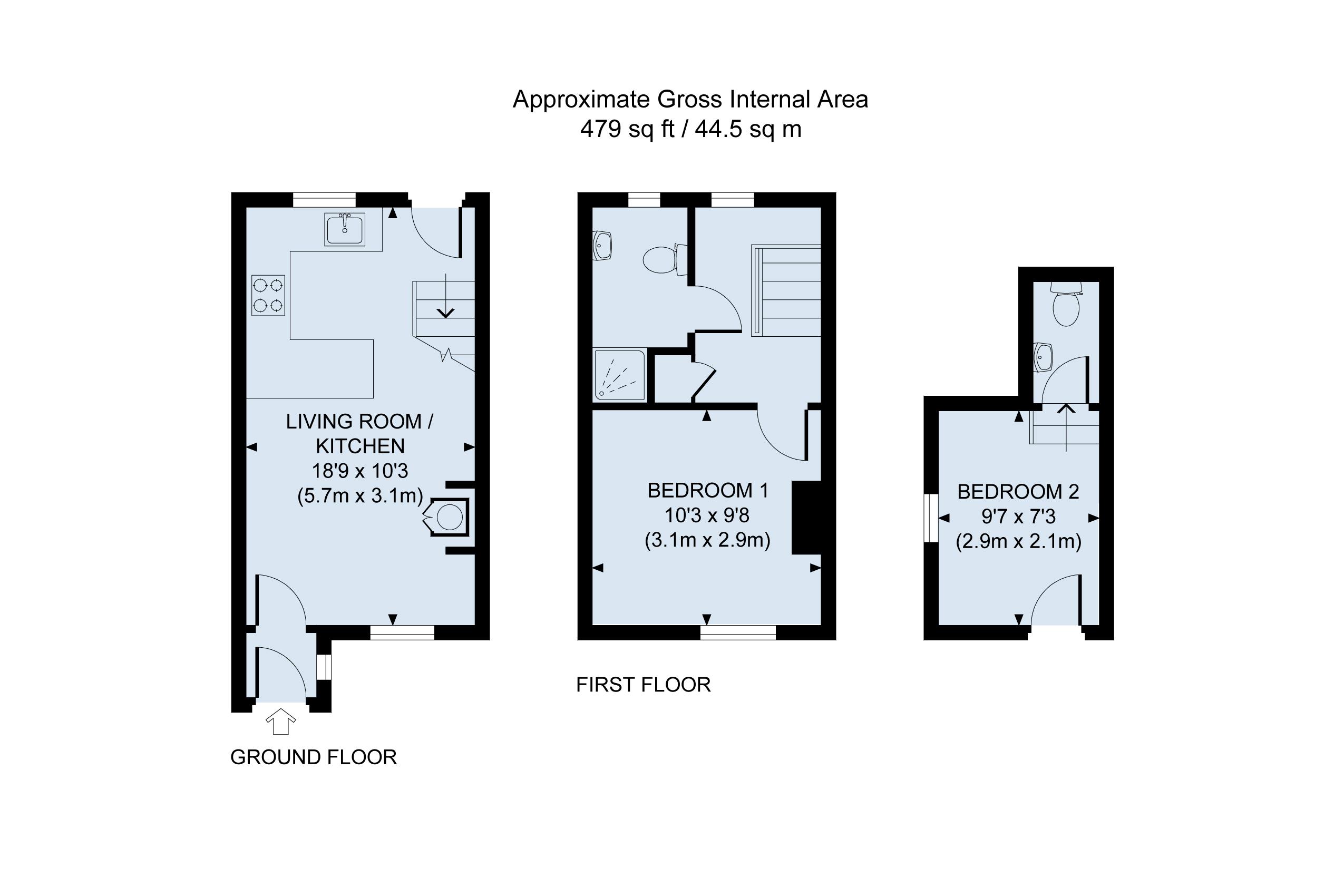 Floor Plan Rose Cottage Arundel
