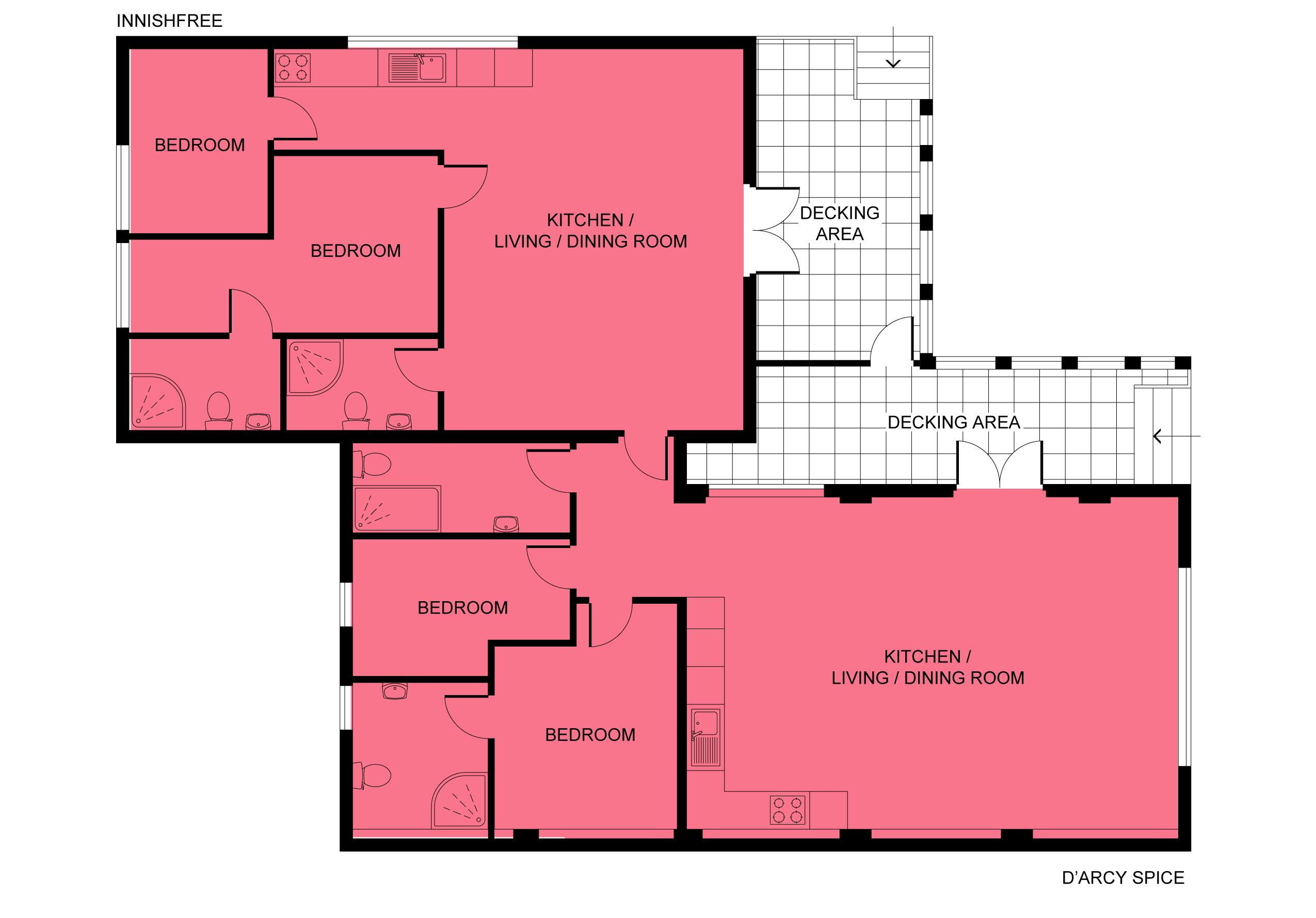 Floor plan - Innishfree