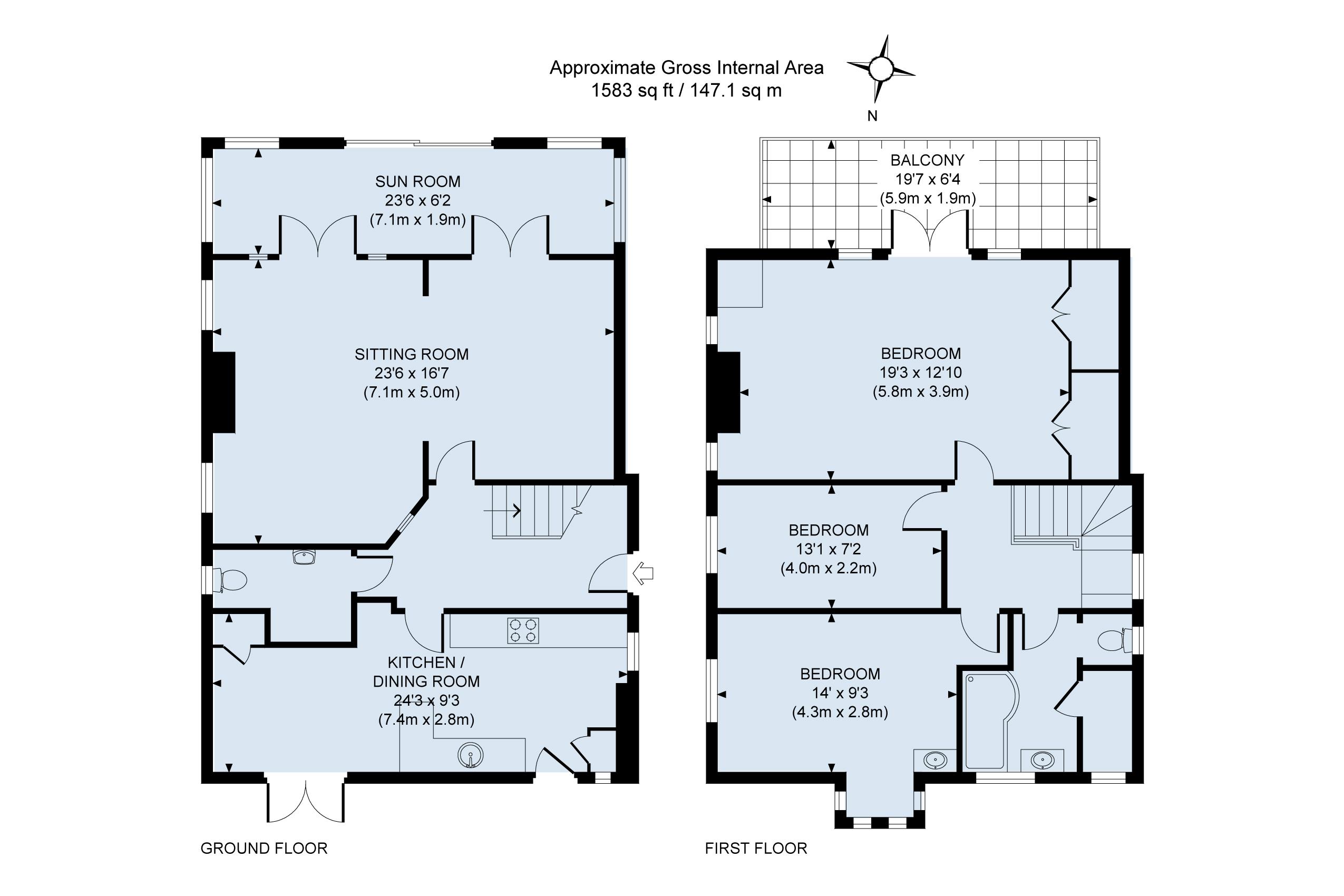 Floor plan Little Timbers