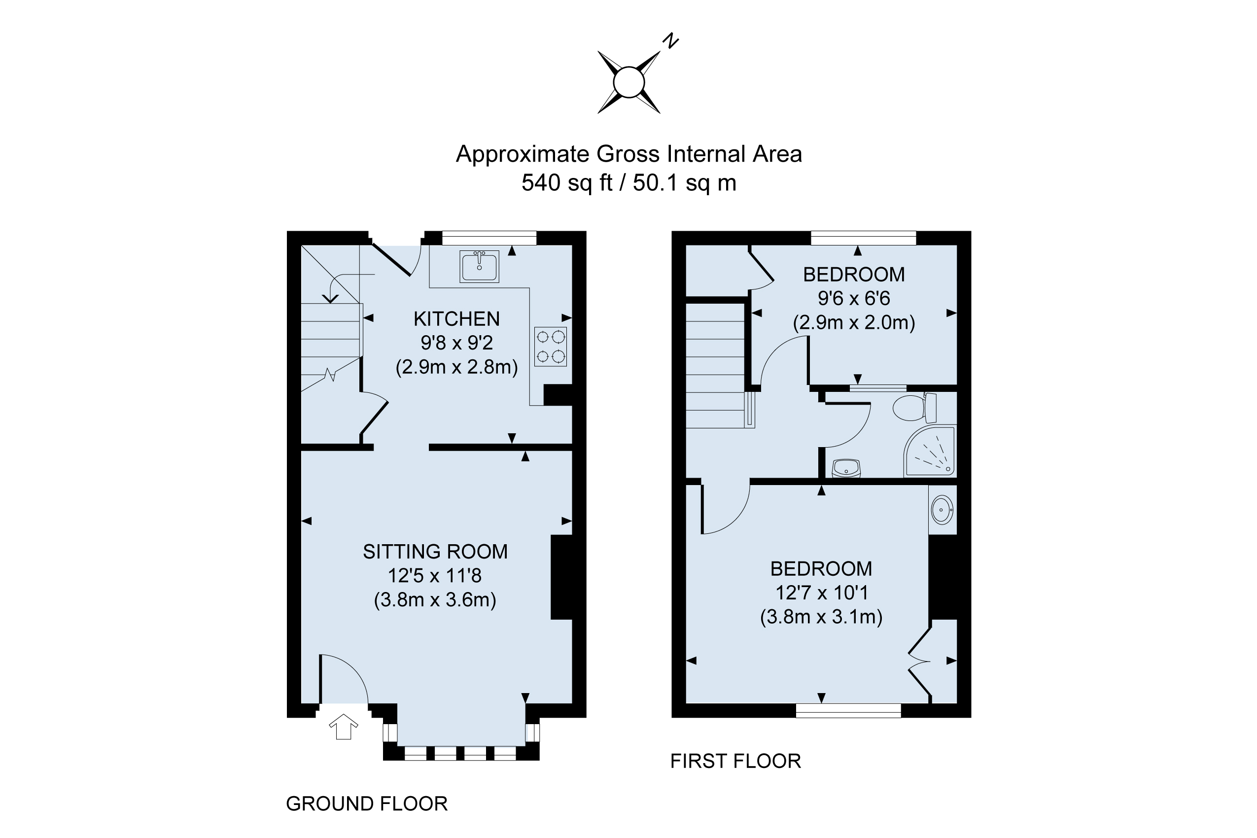 Floor plan Tail End Cottage