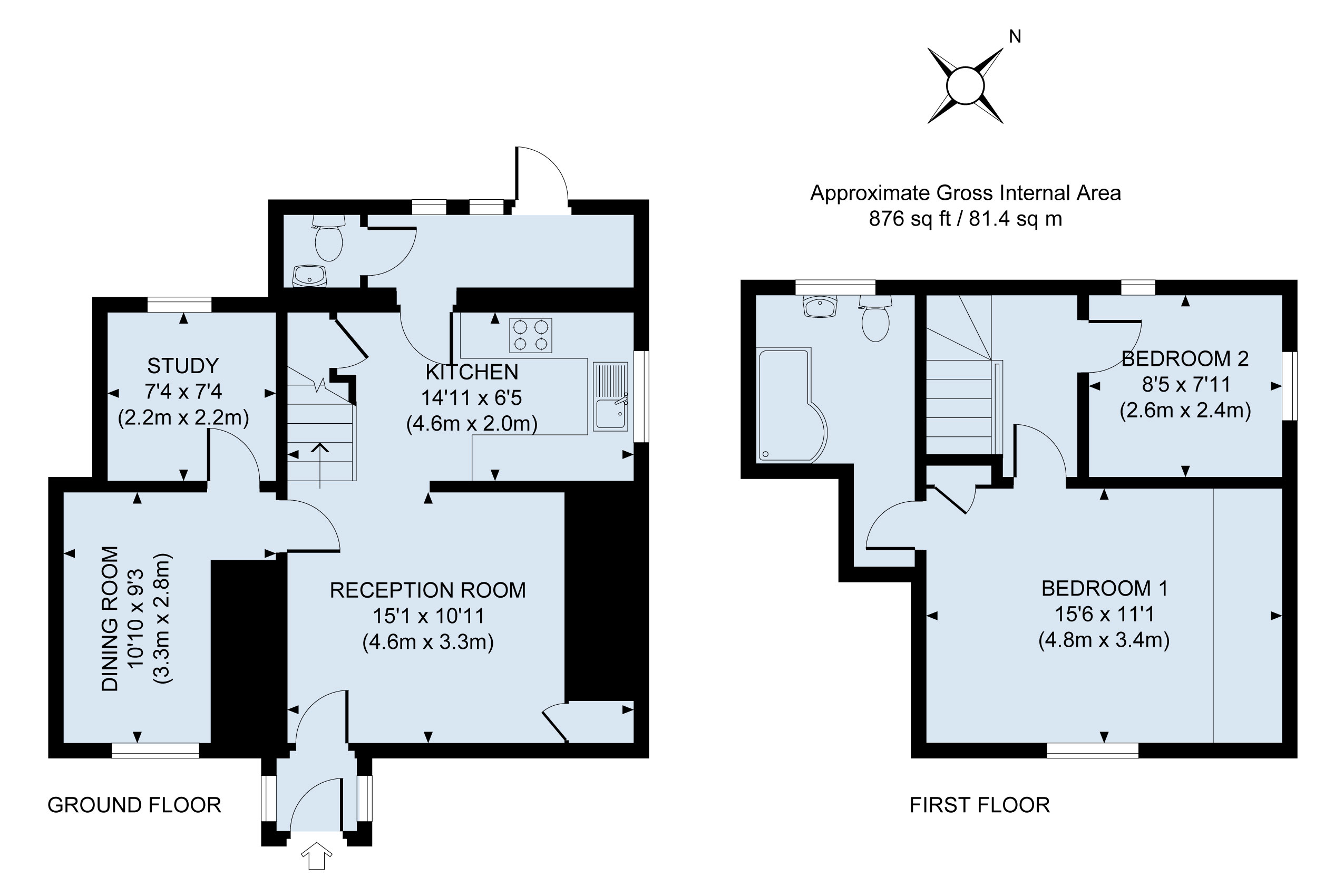 Floor plan Rose Mullion Cottage