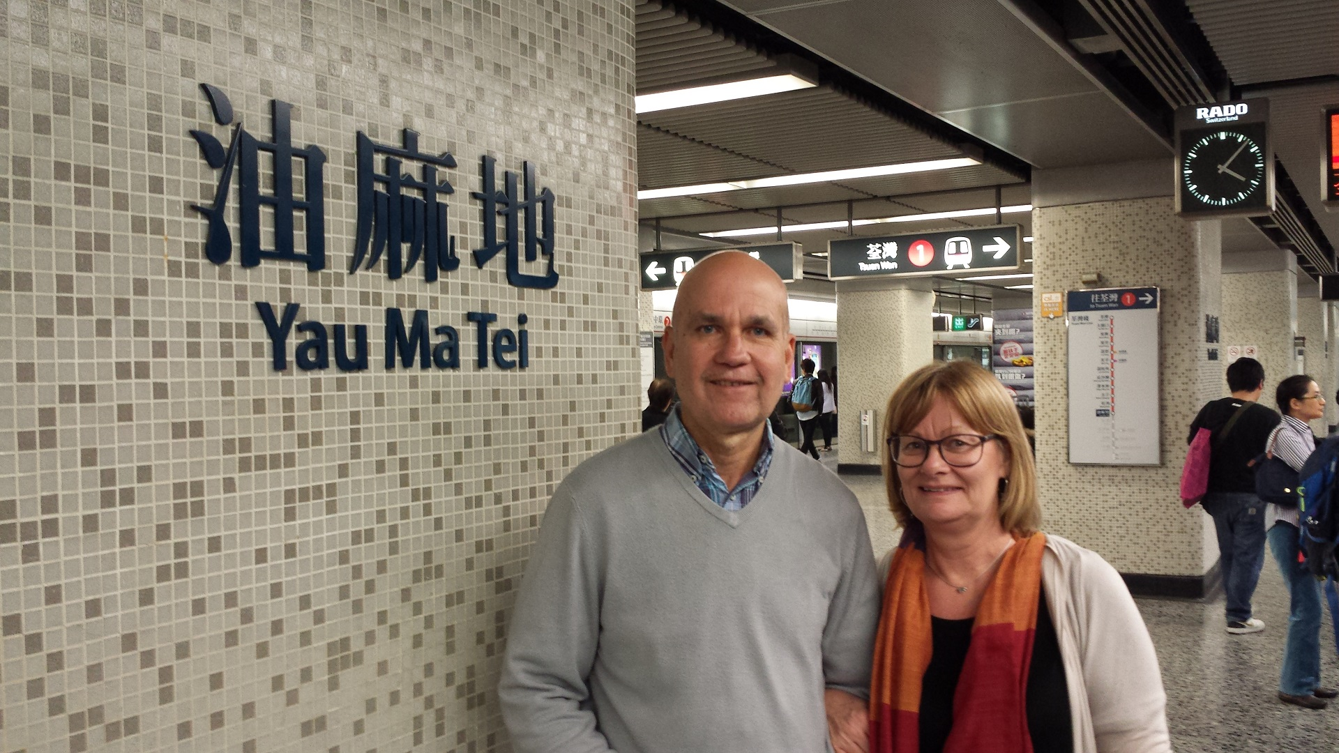 Lesley & Felix Houareau - on holiday in Hong Kong