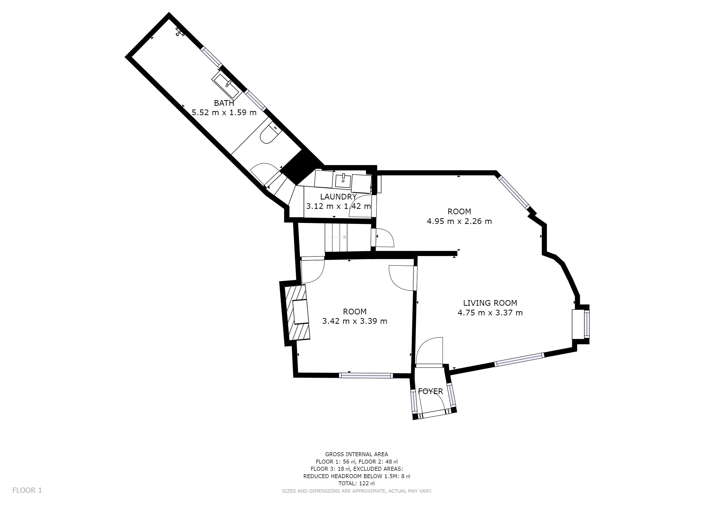 Castle Cottage - Ground floor