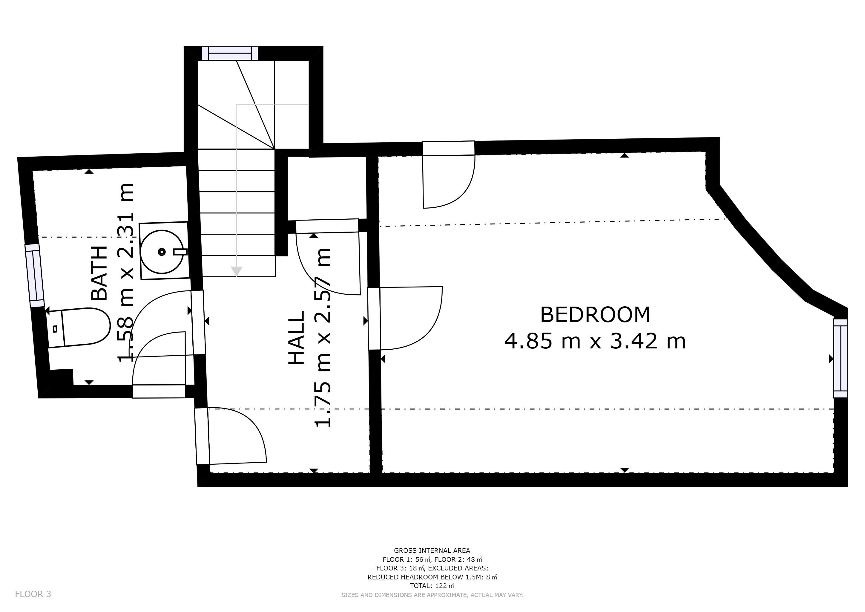 Castle Cottage - Second floor