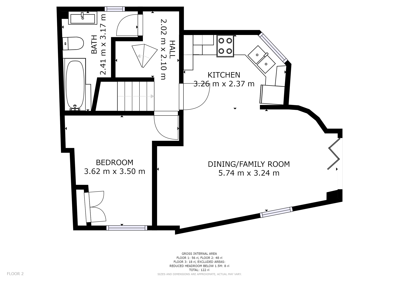 Castle Cottage - First floor