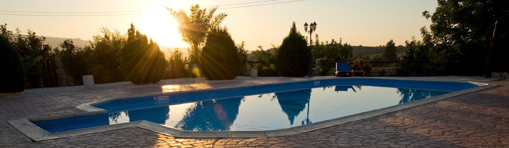Villa Lee, Peristerona, Polis, Cyprus- Sunset over private pool